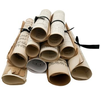 Roll of 19th Century Music Sheets | Interior Design, Gifts, & Antiques Furniture | Branca