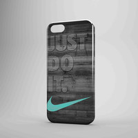 New Nike Mint Just Do It Wooden iPhone 5 Case