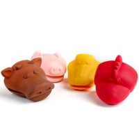 Animal Silicone Pot Holders - Bundle of 4 (Cow, Pig, Duck & Rooster)