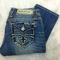 ROCK REVIVAL ABBIE T4 STRAIGHT JEANS