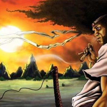 AFRO SAMURAI MANGA COOL ANIME  oil painting-2016 TOP hand painted ART oil painting --Original art work -Free shipping cost