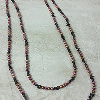 Genuine Freshwater Pearl & Garnet Necklace