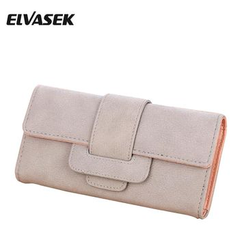 ELVASEK New Comes Good Hot Sale Women Wallets Female Leather Purse High Quality Women Clutches Card Holders Wallet Women DH0249
