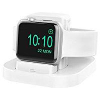 Apple Watch Stand with Nightstand Mode, charging dock for Apple Watch Series1/ Series2/Nike+/42mm/38mm; Feature with Innovatory Adjustable Lift Platform. (Pink Sand)