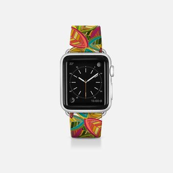 leaf fall white apple watch band Apple Watch Band (38mm)  by Sharon Turner | Casetify