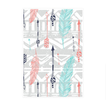 Feathers and Arrows Print Art Print
