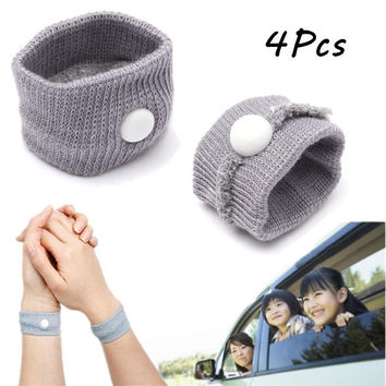 4pcs Car Van Plane Smart Anti Nausea Sickness Wrist Bands Sick Outdoor Travel Sports Accessories Health Care Braces Supports