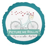 Round Throw Pillow They see me Rollin' They Lovin'