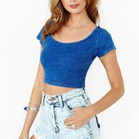Summertime Blues Crop Top