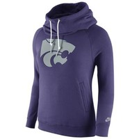 K-State Wildcats Nike Womens Purple Rewind Funnel Long Sleeve Hoodie
