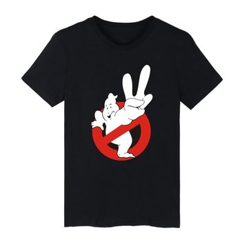 Top Selling Ghostbusters Movie Cotton T-shirt Fashion Style Short Sleeve funny T Shirts Women Ghost Busters Tee Shirts clothing
