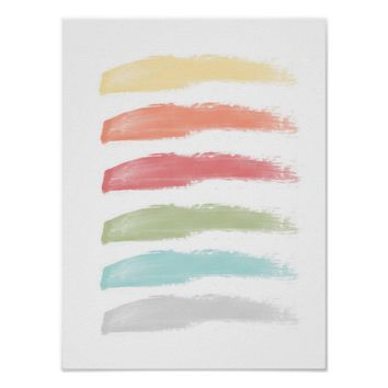 Colorful Brushstrokes Poster
