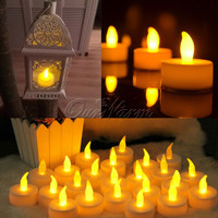 12pcs Led Candle for Halloween Decorations Flickering Flameless LED Tealight Flicker Tea Candle Light Xmas Party Wedding Candles