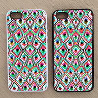 Cute Abstract Geometric Pattern iPhone Case, iPhone 5 Case, iPhone 4S Case, iPhone 4 Case - SKU: 238