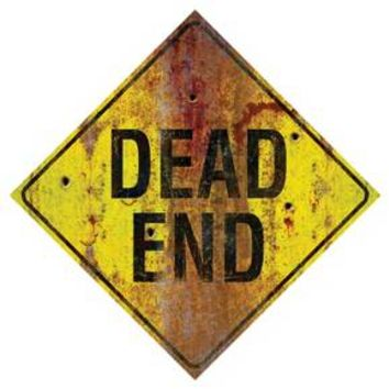 Halloween Metal Sign-Dead End
