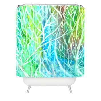 Rosie Brown Coral View Shower Curtain