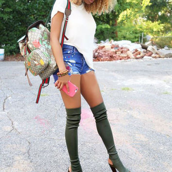 Rumbidzo 2017 Summer Boots Over the Knee Boots Women Shoes Spring Summer Long Boots Thigh High Botas Woman Bootie Sapatos