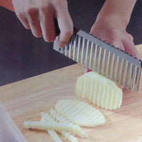 Wavy Edged Knife Stainless Steel