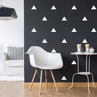 Triangle Wall Decals, Wall Stickers, Triangle Sticker, Mini Triangles, Geometric Wall Decals, Nursery Decal, Pattern Walls, Set of 100 .
