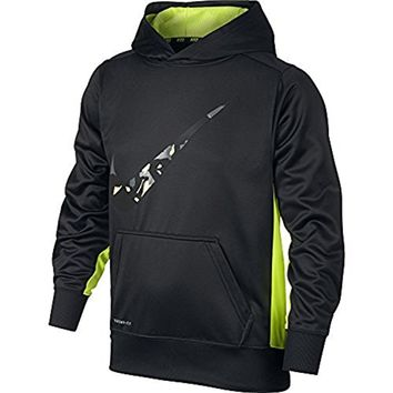 Nike KO 3.0 Swoosh PO Hoodie - Boys Youth 8-20 Shirts Anthracite Volt