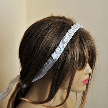 Bridal Pearl Headband, white Pearl, wedding headband, Weddings, Bridal Hair Accessory, etsy, headpiece, wedding Hair accessory, hairband