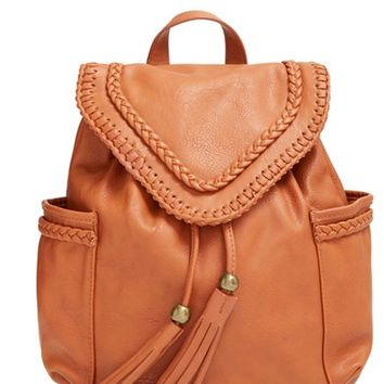 Junior Women's Dolce Girl Braided Faux Leather Backpack