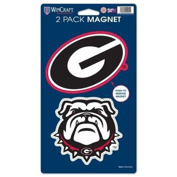 DCCKG8Q NCAA Georgia Bulldogs 2 Pack Magnet