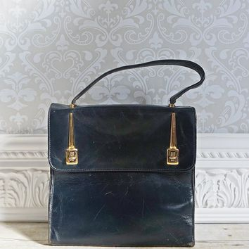 Vintage 1950s Atomic + Leather Handbag