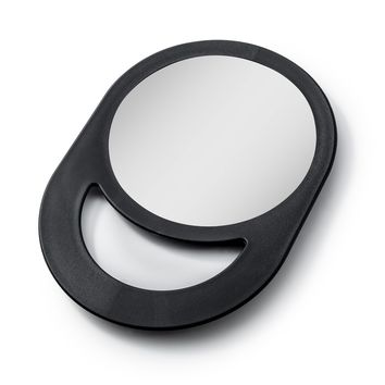 Zadro Round Hand Held Mirror with 1x magnification