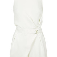 D-Ring High Neck Playsuit - Ivory