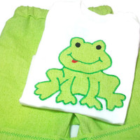 Baby Boy Outfit, Baby Boys Short Set, Baby Boy Frog Outfit, Size 12 Month Boy Clothes,  Baby Boy Shorts, Boys Fashion