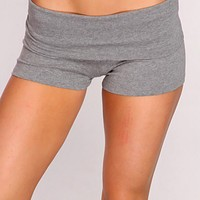 Heather Grey Sexy Active Wear Shorts