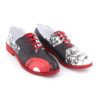 Streetfly Black & White Music Notes Oxfords   zulily