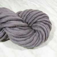 Super bulky yarn, giant chunky yarn ATLAS purple-gray Fog 3,5 oz , super thick yarn, hand spun merino, extreme knitting blanket yarn