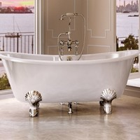 Neoclassical style freestanding bathtub on legs CHANDLER Burlington Collection by Regia