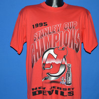 90s New Jersey Devils 1995 Stanley Cup Champs t-shirt Large