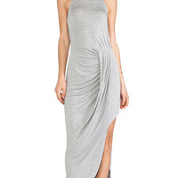 bless'ed are the meek Flow Dress in Gray