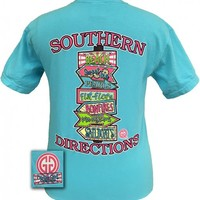 Southern Directions Lagoon Blue Comfort Color [SS-SD-LB] - $20.99 : Girlie Girl™ Originals - Great T-Shirts for Girlie Girls!