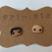 Handmade Plastic Fandom Earrings - Riverdale - Jughead & Betty