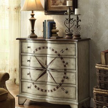 Hadden collection antique gray finish wood bombay chest with four drawers