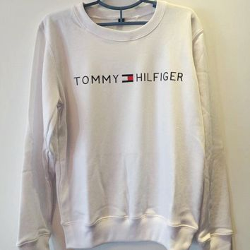 Tommy Hilfiger : Women Fashion Casual Long Sleeve Sport Top Sweater Pullover Sweatshirt