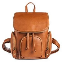 Women's Faux Leather Backpack Handbag Cognac - Mossimo Supply Co.