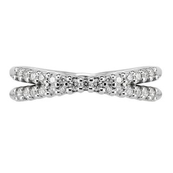 X White Gold Wedding Band