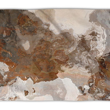Abstract Art plush fleece throw, 50x60 and 60x80, coral fleece blanket in brown and gray, Ball and Chain