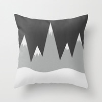Mountain Peaks Pillow Cover - Pillow Cover Only - Throw Pillow Cover - Hand Drawn Mountains - Nature Pillow - Sofa Pillow - Made to Order