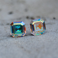 Vintage Swarovski Crystal Earrings Super Sparkler by MASHUGANA