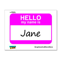 Jane Is Hello My Name Is Sticker