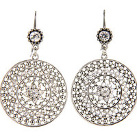 Jessica Simpson Large Crystal Drop Silver - Zappos.com Free Shipping BOTH Ways