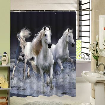 Rideau  Douche  Waterproof  Horse  Shower  Curtain