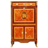 French Tulipwood Amaranth and Marquetry Louis XVI Secretaire À Abattant
